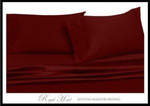 Solid Burgundy Top-Split-King Adjustable King Bed Size Sheets