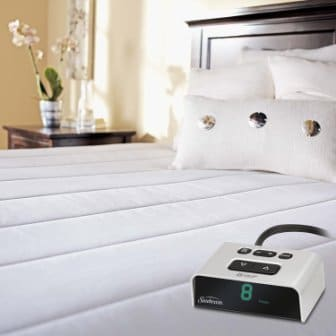 Sunbeam Vertical Quilted Heated Mattress Pad with ComfortTech LED Controller