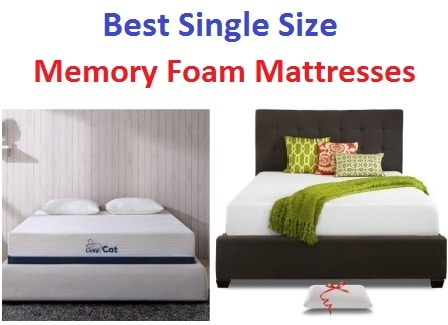 Top 15 Best Single Size Memory Foam Mattresses in 2017