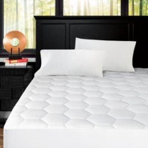 Zen Bamboo Ultra Soft Fitted Bamboo Mattress Pad – Premium Hypoallergenic Bamboo Mattress Topper with Honeycomb Cooling Technology
