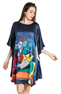 iF Silk 100% Pure Nightgowns Batwing Sleeved Classic Nightwear Sleepwear Pajama Perfect