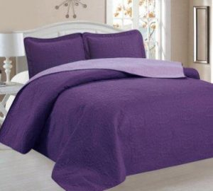 Home Sweet Home Victoria Design Reversible 3 PC Quilt Bedspread Sets