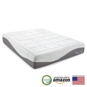 Perfect Cloud Elegance 12-Inch Memory Foam Mattress Featuring Luxurious Fabrics & Double Layer of Visco Gel Cool Design