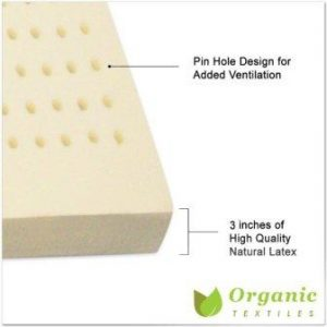 100% Natural Latex Topper Queen Size Organic Textiles