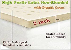 Certified Organic Purity Latex Mattress Topper Pad by Organic Textiles