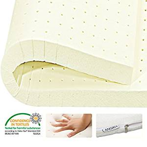 LANGRIA 2″ Plush Latex Mattress Topper