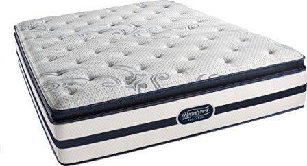 Beautyrest Recharge Simmons Plush Pillow Top Mattress, Gel Memory, Full Size