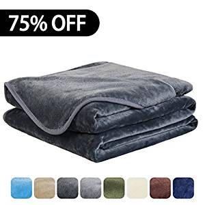 Easeland Luxury Super Soft King Size Blanket Summer Cooling Warm Fuzzy Microplush Lightweight Thermal Fleece Blankets