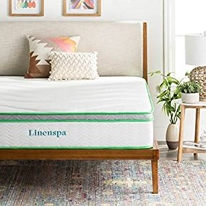 LINENSPA 10 Inch Latex Hybrid Mattress – Supportive – Responsive Feel