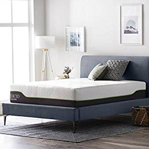 LUCID 12 Inch Queen Latex Hybrid Mattress – Memory Foam