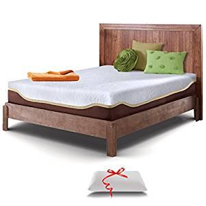 Live and Sleep Resort Elite Queen Size, 10-Inch Firm Cooling Gel Memory Foam Mattress