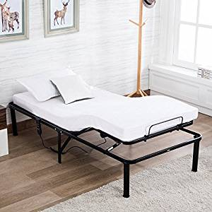 Mecor Electric Adjustable Metal Bed Frame Base Foundation