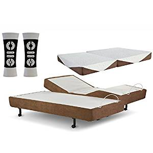 Zero Gravity G-Force Split King Adjustable Bed with Mattress