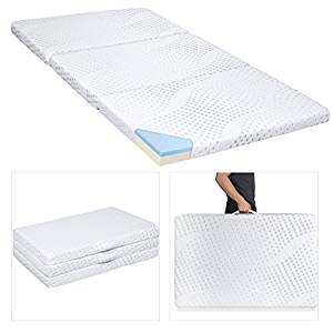 Best Choice Products Portable 3″ Tri Folding Gel Memory Foam Mattress