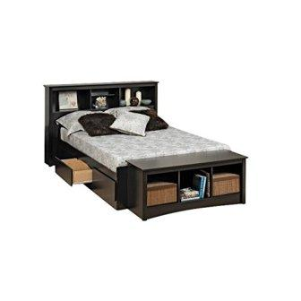 Bowery Hill Queen Bookcase Platform Storage Bed