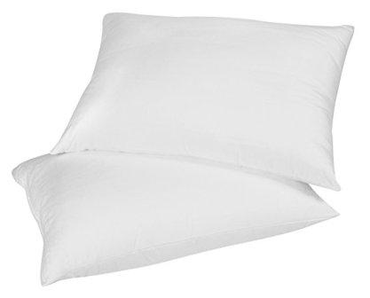 Continental Bedding 100% Premium White Goose Down Luxury Pillow, Soft. (Set of 2)