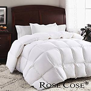 Restful Nights Natural Down Comforters King Queen Twin Bedding White 100/% Cotton