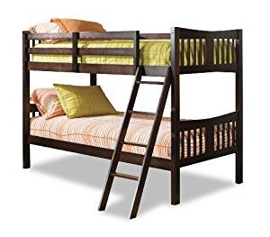 Storkcraft Caribou Solid Hardwood Twin Bunk Bed, Espresso