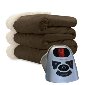 Biddeford 6001-9362160-711 Micro Mink and Sherpa Heated Blanket