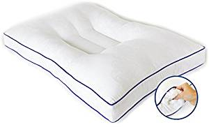 Cervical Support Pillow from Nature's Guest, Doctor recommended contour design, fully adjustable, helps reduce neck and back pain, hypoallergenic, improves cervical health, for side and back sleepers