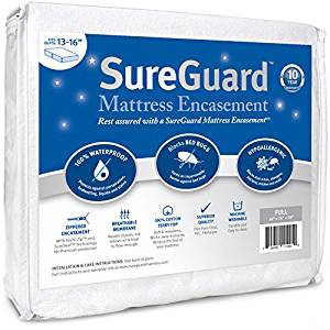 Full (13-16 in. Deep) SureGuard Mattress Encasement from SureGuard Mattress Protectors