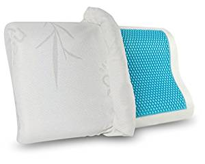 Gel Memory Foam Pillow, Cervical Support Pillow Back Stomach Side Sleepers