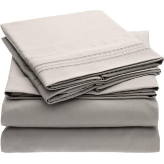 Mellanni Microfiber 1800 Bedding Bed Sheet Set
