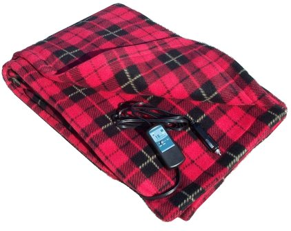 Trillium Worldwide Fleece Travel Electric Blanket