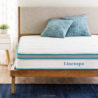 LINENSPA 8 Inch Memory Foam and Innerspring Hybrid Mattress – Twin