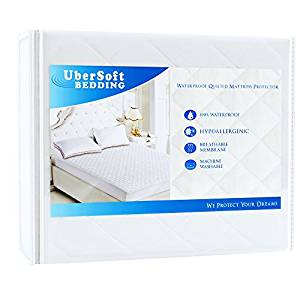 Mattress Protector Pad for Queen Bed from UberSoft Bedding