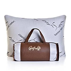 Shredded Memory Foam Pillow from ComfoLife with Bamboo Cover