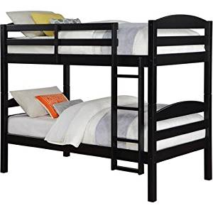 Twin over Twin Wood Bunk Bed from Mainstays, Black