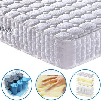 Vesgantti 9.4 Inch Multilayer Hybrid Twin Mattress - Multiple Sizes & Styles