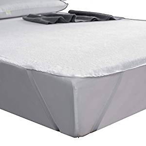 """AYASW Waterproof Mattress Protector Queen Size (60""""x80""""), Cotton Reusable Pad Wide Rubber Bands, Easy Fit (Queen Size)"""
