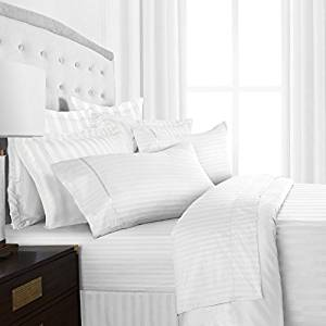 Beckham Hotel Collection Luxury Soft Brushed Microfiber 4-Piece Striped Sheet Set