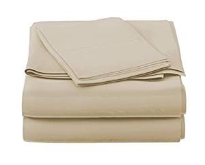 California Cotton Club 600 Thread Count Bed Sheets Set – 4 Piece