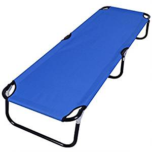 Generic Blue Folding Camping Bed Outdoor Portable Military Cot.