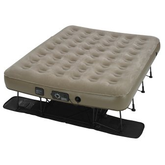 Insta-Bed Ez Queen Raised Air Mattress with NeverFlat