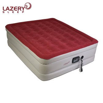Lazery Sleep Air Mattress – Raised Electric Airbed with Built in Pump & Carry Bag