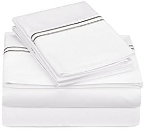 Pinzon 400-Thread-Count Egyptian Cotton Sateen Hotel Stitch Sheet Set