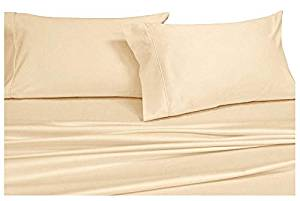 Royal Hotel's Solid Ivory 1000-Thread-Count Super-Deep 4pc Queen Bed Sheet Set
