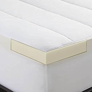 Sleep Innovations 2-inch Memory Foam Mattress Topper and Waterproof Mattress Protector