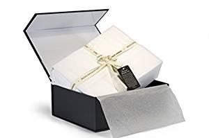Thomas Gene 100% Egyptian Cotton Sheets, Genuine 1000 Thread Count 4 Piece Gift Box Set