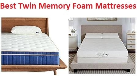 Top 15 Best Twin Memory Foam Mattresses in 2018