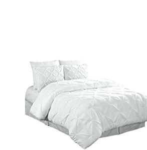 Chezmoi Collection Berlin Pintuck Pinch Pleat Comforter Set