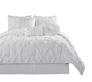 Chezmoi Collection Sydney 7 Piece Pintuck Comforter