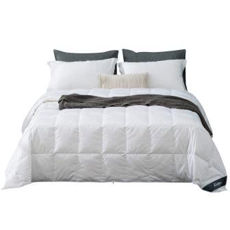 Globon White Goose Down Lightweight Comforter Blanket