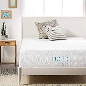 LUCID 14-Inch Plush Memory Foam Mattress in a Box