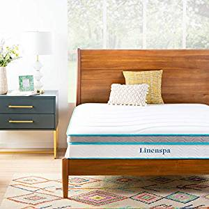 Linenspa 10-Inch Memory Foam and Innerspring Hybrid Mattress in a Box