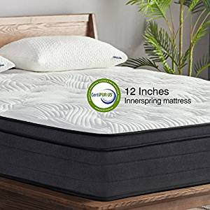 Sweetnight 12-Inch Pillow-Top Hybrid King Mattress in a Box